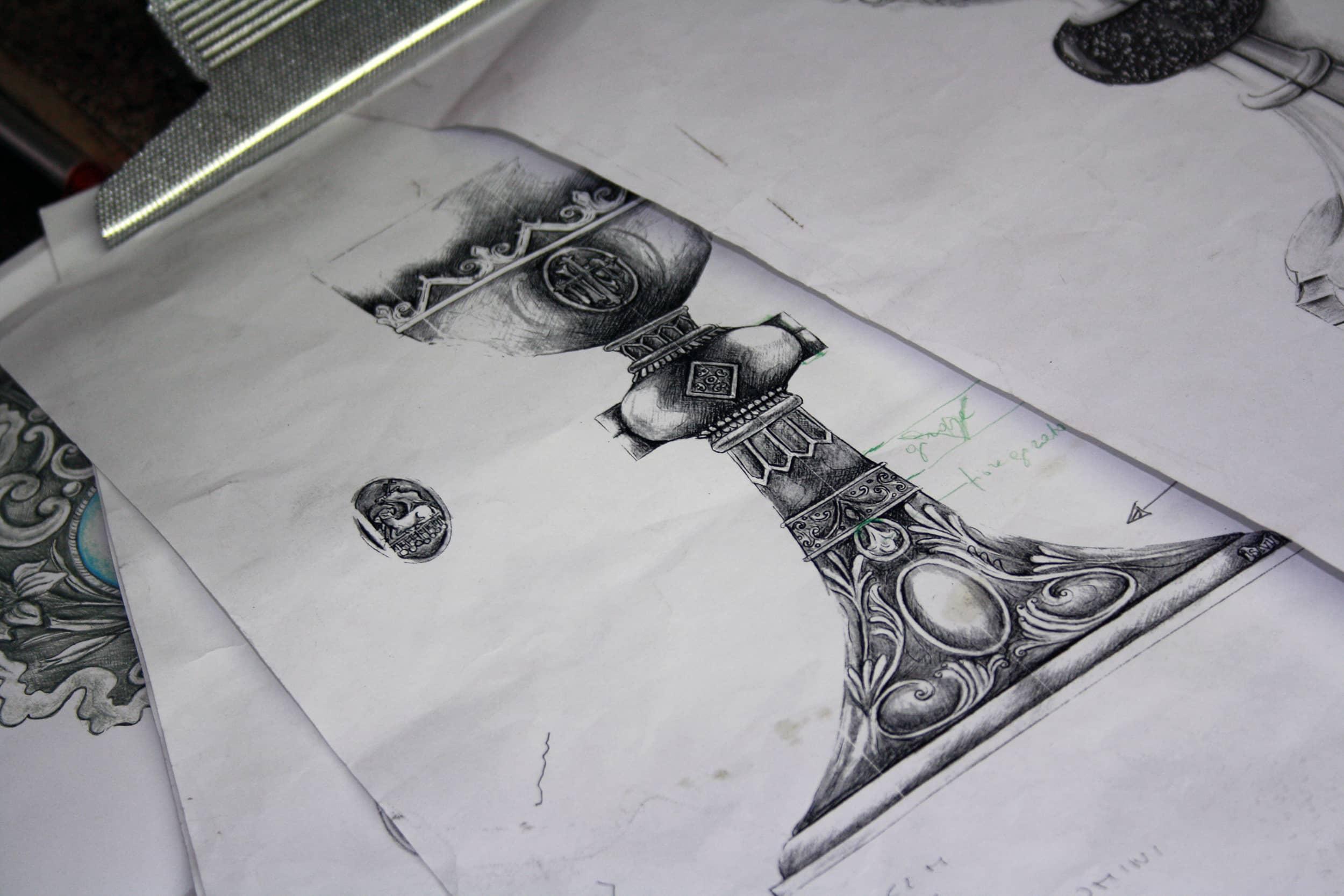 Progetto di un Calice Religioso: chiaro scuri